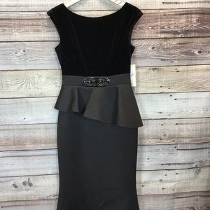 Eliza J. Formal Fit & Flow Style Dress Black 6 NWT